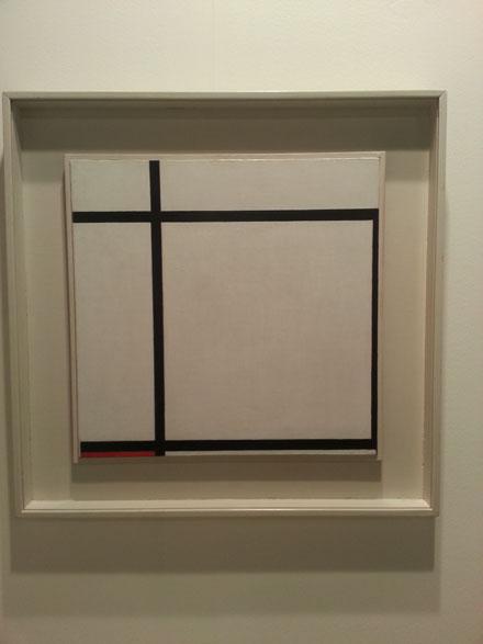 PIET MONDRIAN_Komposition II, with red, 1926_Helly Nahmad Gallery