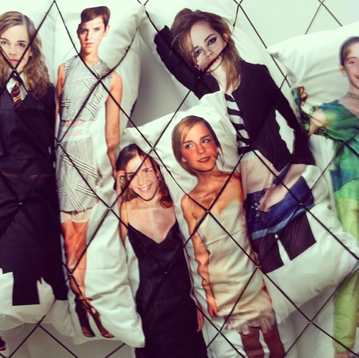 Emma Watson Body Pillows by Jon Rafman, via Art Observed
