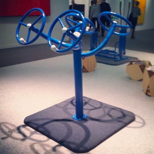 office exercise equipment. exercise equipment by politsheerformoffice via art observed office