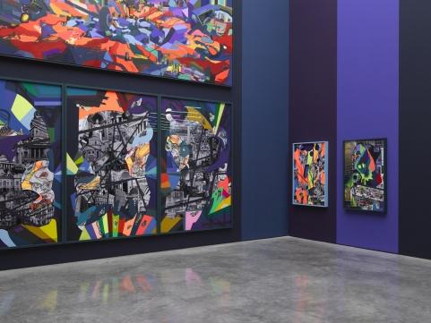 Franz Ackermann, 9 X 9 X 9 (Installation View), via White Cube