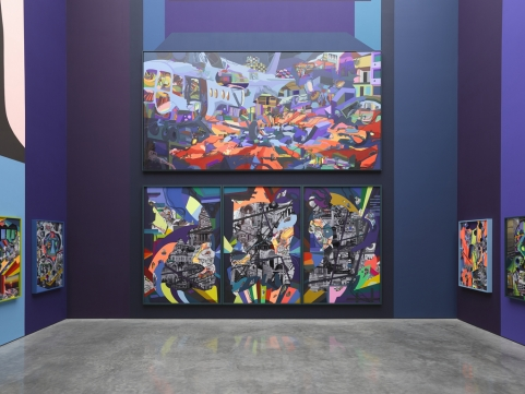 Franz Ackermann, 9X9X9 (Installation View), via White Cube