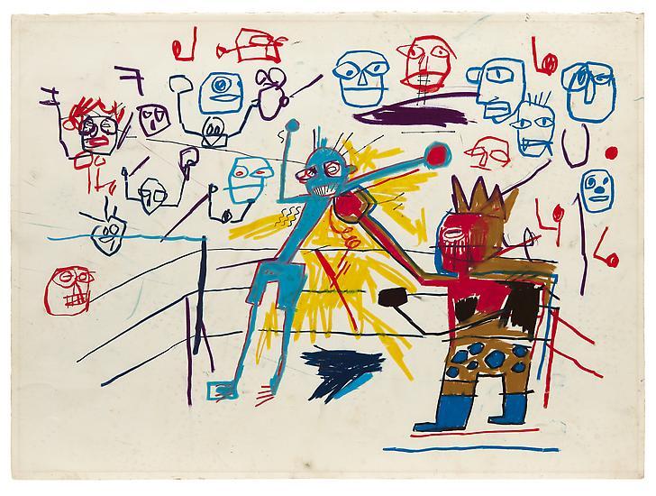 Basquiat-DrawingsBoxing-Acquavella