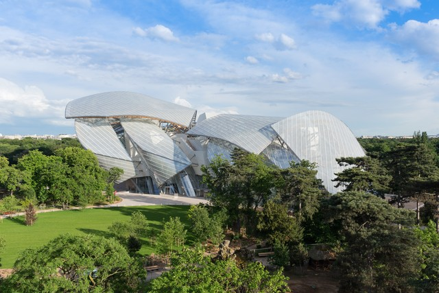 The Louis Vuitton Foundation in the Bois de Boulogne, via WWD