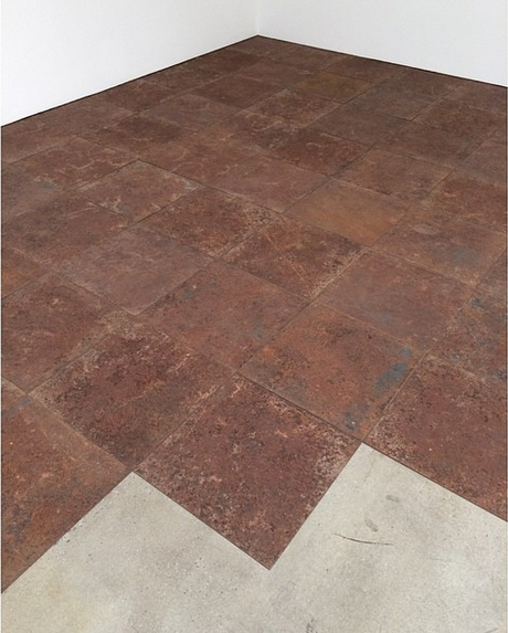 Carl Andre at the Paula Cooper Gallery, via Art Observed