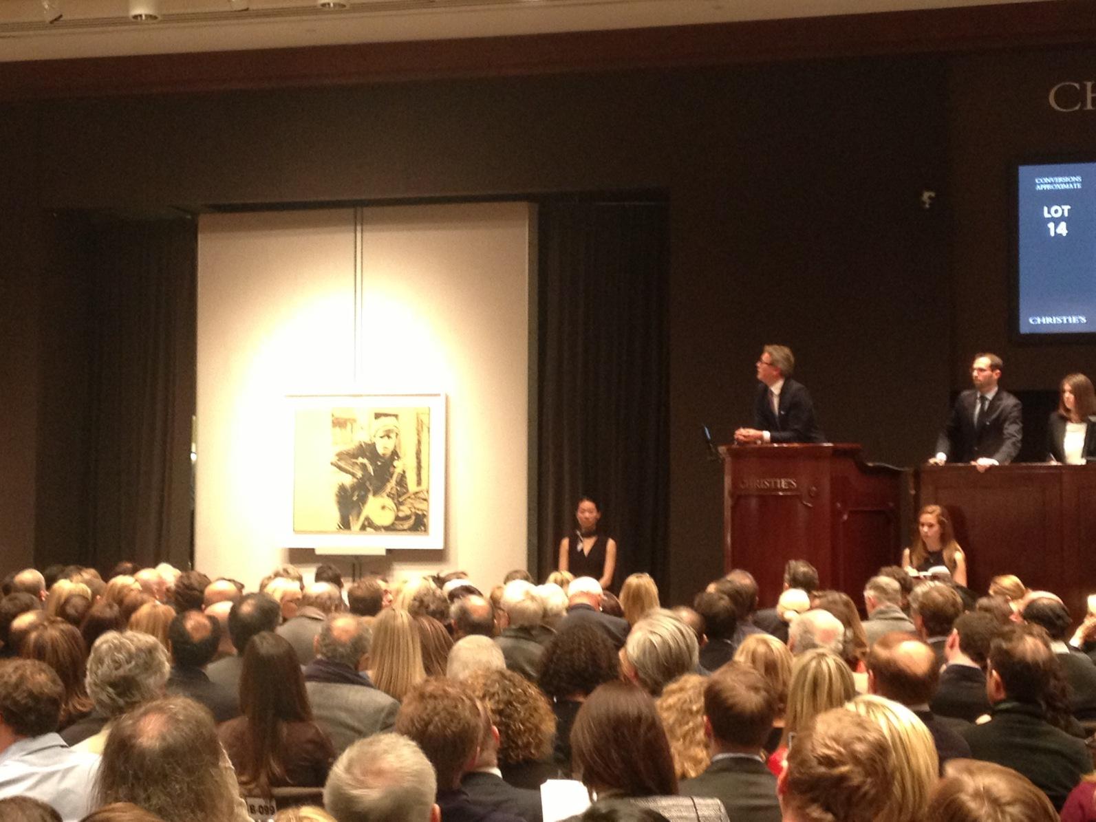 Christie's Sale Room, via Art Observed