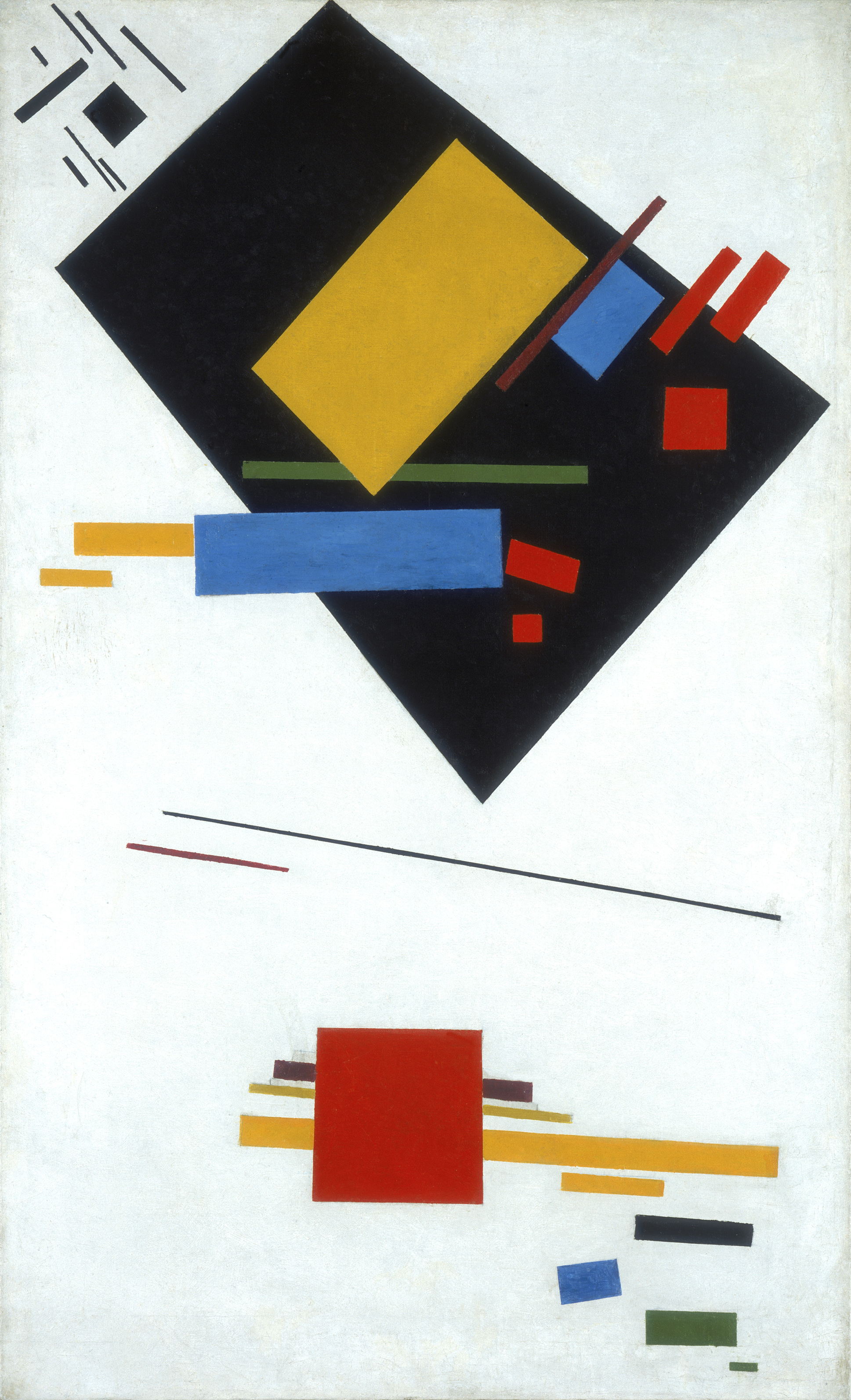 Kazimir Malevich, Suprematist Painting (with Black Trapezium and Red Square) 1915, Tate Modern
