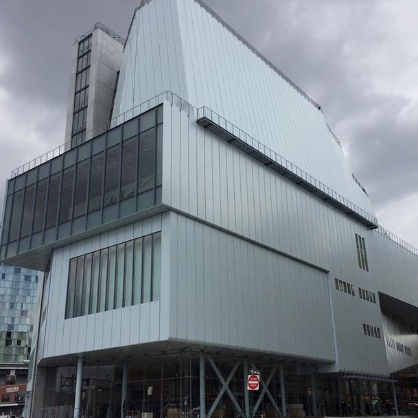 Outside the New Whitney Museum, via Art Observed