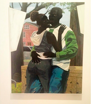 Kerry James Marshall, Untitled (Lovers) (2015), via Art Observed