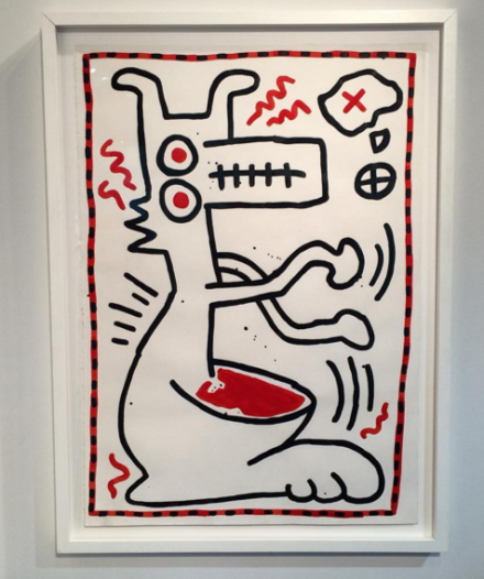 Keith Haring at Hollis Taggart, via Art Observed