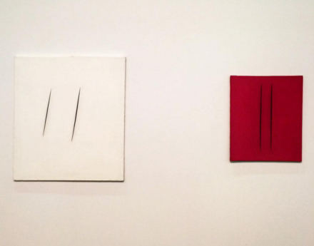 Lucio Fontana at Cardi Gallery, via Art Observed