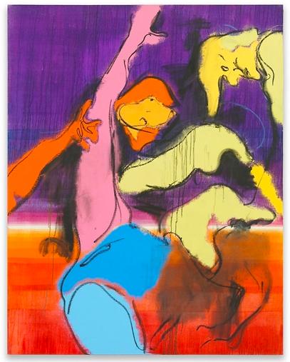 Daniel Richter, argerliches Grün (2015)
