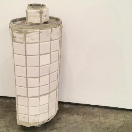 Matias Faldbakken, Ceramic Muffler (2016), via Art Observed