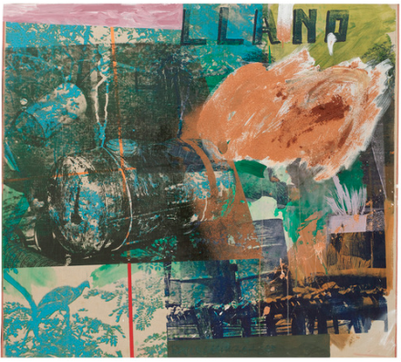 Robert Rauschenberg, Earth Haunts:ROCI VENEZUELA (1985), via Pace Gallery