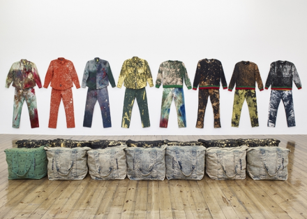 Sterling Ruby, Work Wear: Garment and Textile Archive 2008 - 2016 (Installation View), via Sprüth Magers