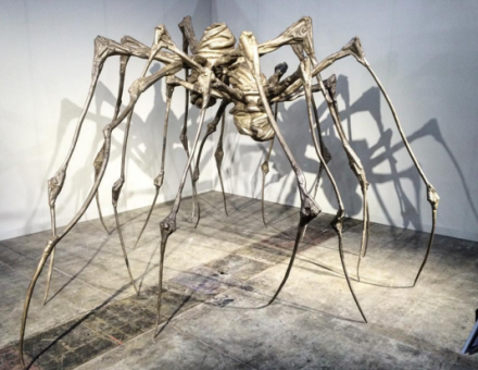 Louise Bourgeois, Spider Couple (2003), via Art Observed
