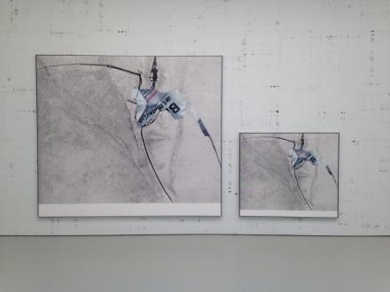 Michael Riedel at David Zwirner (Installation View)