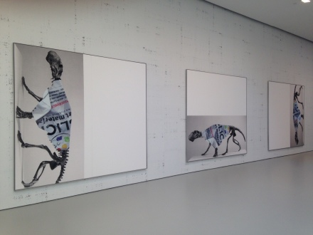 Michael Riedel at David Zwirner (Installation View)2
