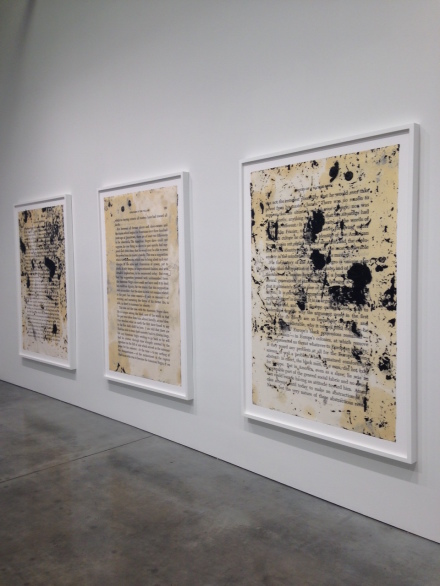 Glenn Ligon, What We Said The Last Time (Installation View)