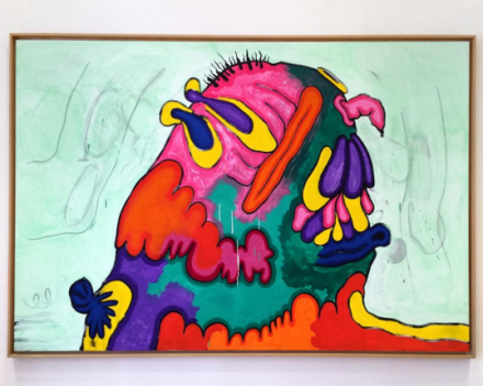 Carroll Dunham, Mound A (1991-1992), via Art Observed