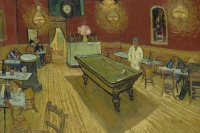 Vincent van Gogh's Le café de nuit, via Art Newspaper