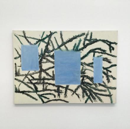 Raoul De Keyser, Bern-Berlin hangend (2012), via Art Observed