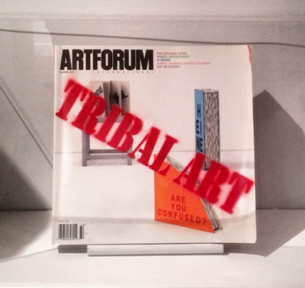 David Hammons, Tribal Art (2007), via Art Observed