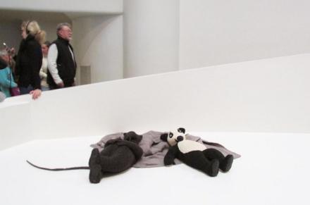 Fischli Weiss, Rat and Bear (Sleeping) (2008), via Art Observed