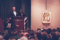 Christopher Burge of Christie's at the Ganz auction, via NYT