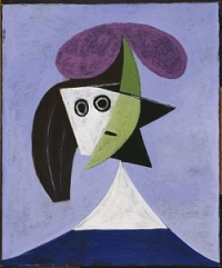 Picasso, woman in a hat, via Art Newspaper