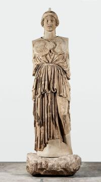 Statue of Athena Parthenos Greek, via WSJ