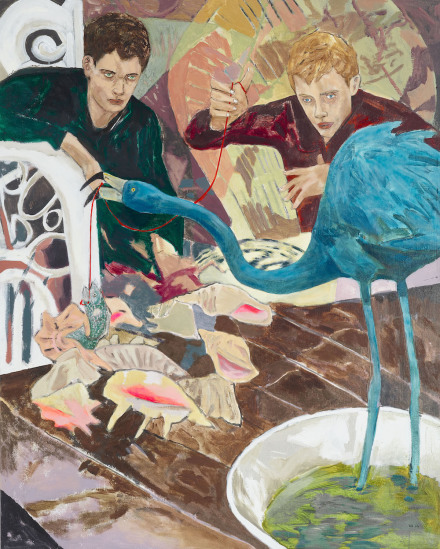Hernan Bas, House Training (South American Blue Flamingo), 2016