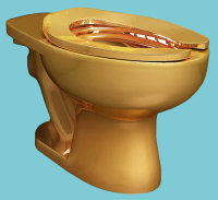 Cattelan's Toilet, via NYT