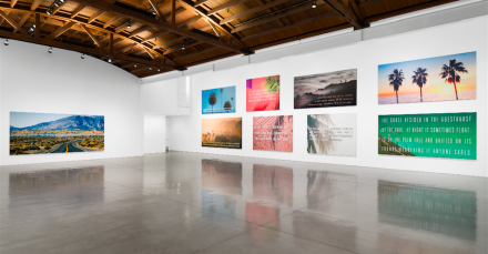 Alex Israel & Brett Easton Ellis (Installation View), via Gagosian