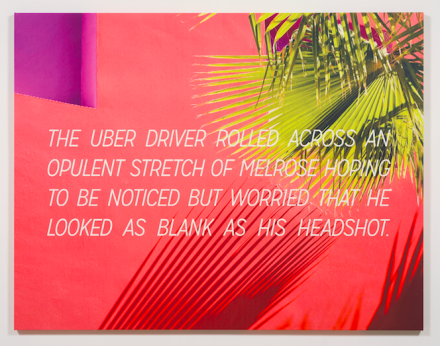 Alex Israel & Brett Easton Ellis, The Uber Driver (2016), via Gagosian