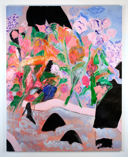 Sojourner Truth Parsons, Pink and mauve and blue on the vine every time you open the blinds (2016), via Tomorrow Gallery