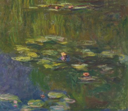 Claude Monet, Le bassin aux nymphéas (1919), via Christie's