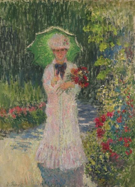 Claude Monet, Camille À L'ombrelle Verte (1876), via Sotheby's