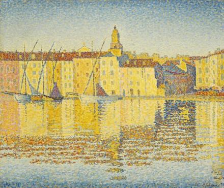 Paul Signac, Maisons du Port, Saint-Tropez (1892), via Sotheby's