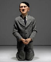 Maurizio Cattelan's Him, via NY Post