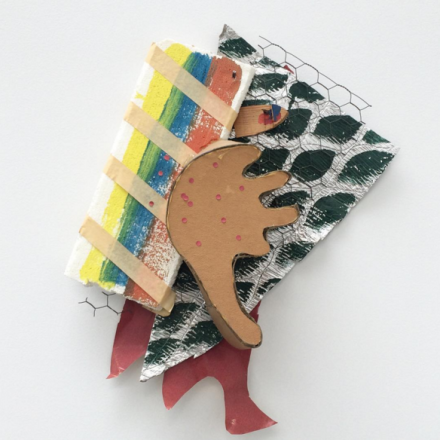 Richard Tuttle, Red Dots, Deep Maroon Over Green (1986), via Art Observed