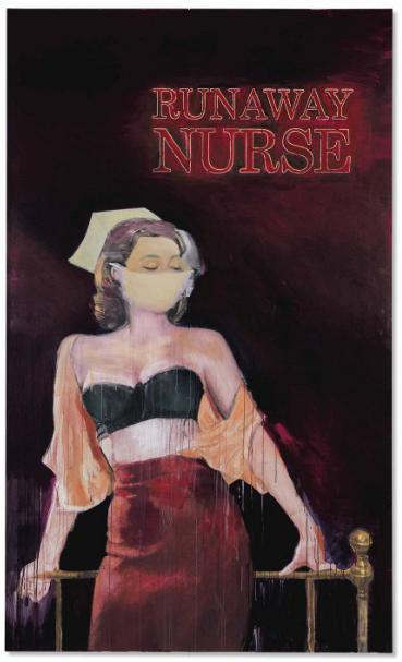 Richard Prince, Runaway Nurse (2005-2006), via Christie's