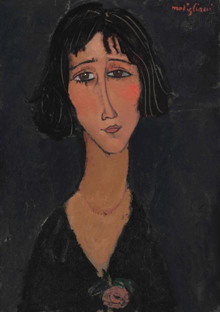 Amedeo Modigliani, Jeune femme à la rose (Margherita) 91916), via Christie's