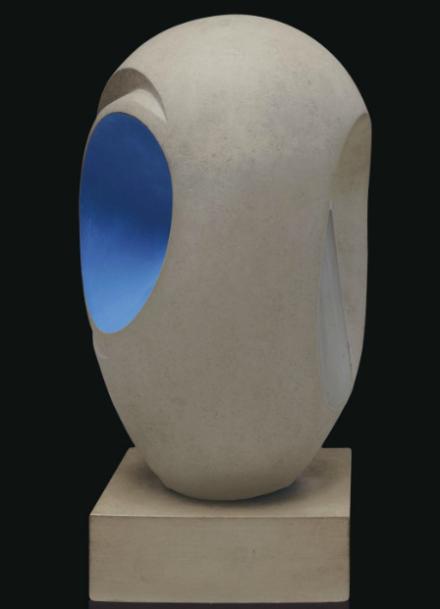 Barbara Hepworth, Sculpture with Color (1946), via Christie's