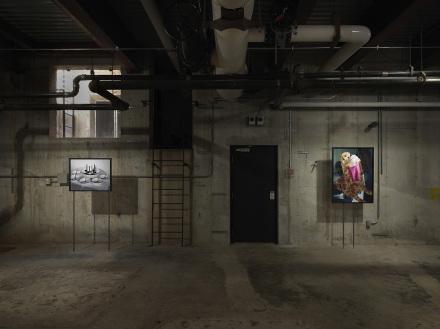 Lucas Blalock, Low Comedy (Installation View), via Ramiken Crucible