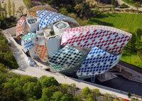 Daniel Buren at Fondation Luis Vuitton, via Real Deal