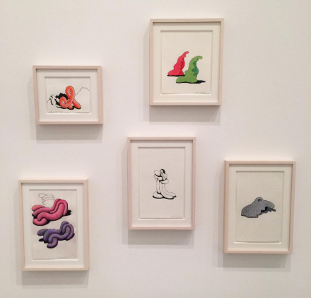 Ken Price, Drawings (Installation View), via Art Observed
