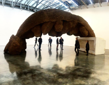 Anish Kapoor, She Wolf (2016), via Art Observed