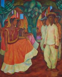Baile en Tehuantepec by Diego Rivera, via NYT