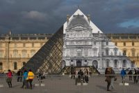 JR at Louvre, via Mid Day