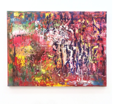 Gerhard Richter, 941-7 Abstraktes Bild (2015), via Art Observed